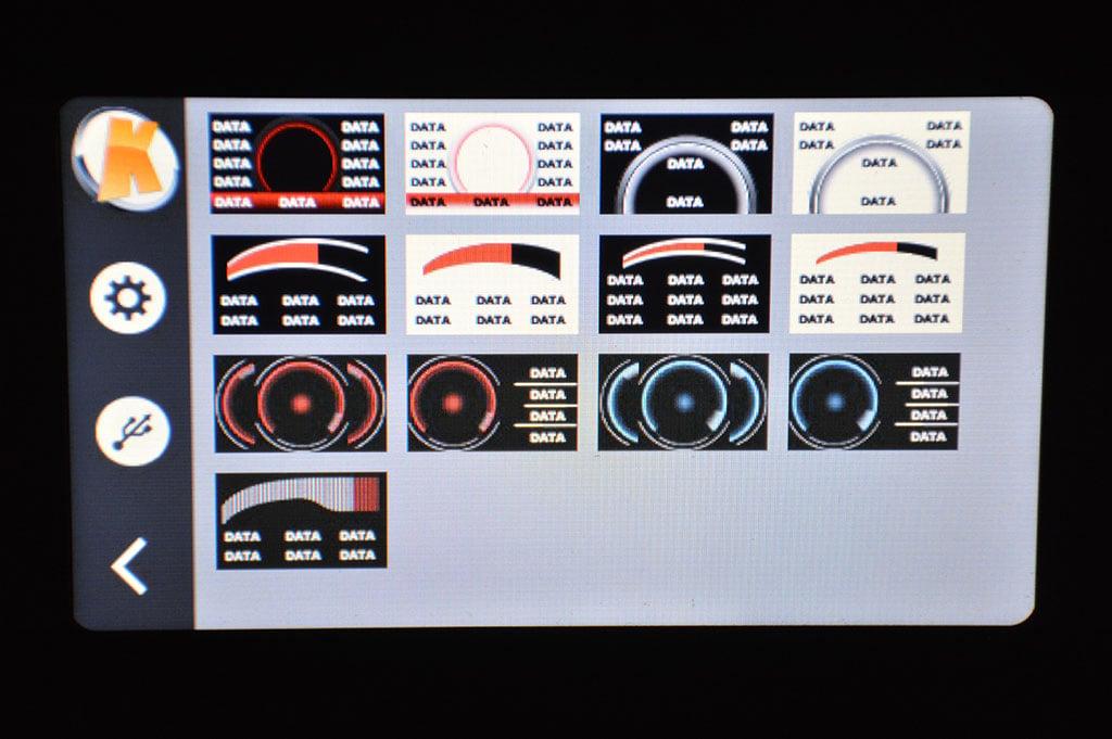 KTuner V2 Gauge Selection Screen