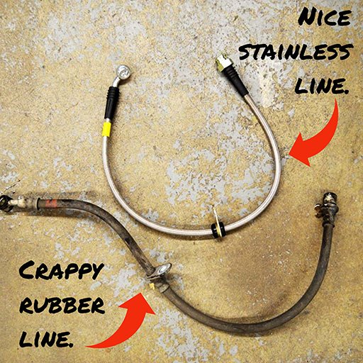 Stainless Steel Brake Line Comparison (1)